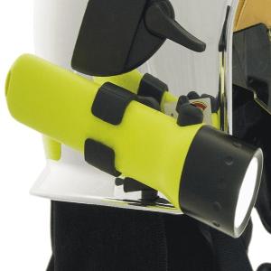 Lampe torche d'intervention LED pour casque pompier