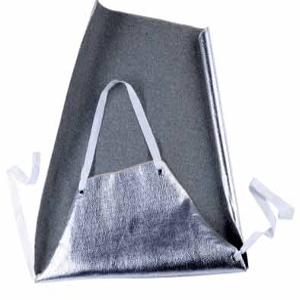 Tablier anti-chaleur aluminisé