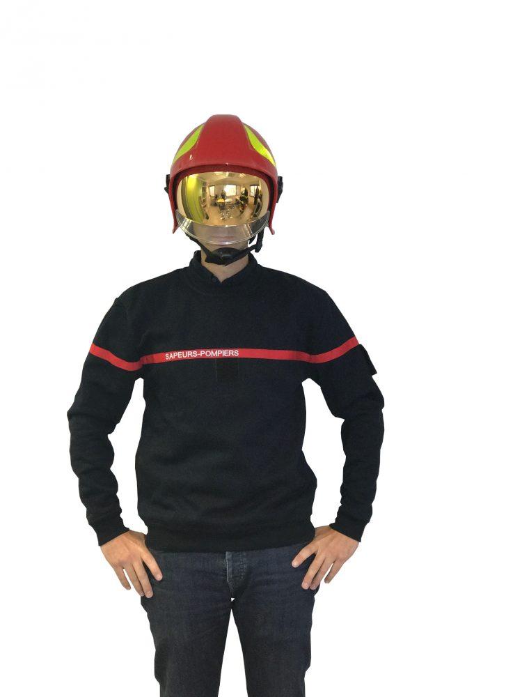 Sweat shirt sapeurs pompiers bleu rouge materiel pompier sweat shirt sapeurs pompiers bleu altavistaventures Choice Image