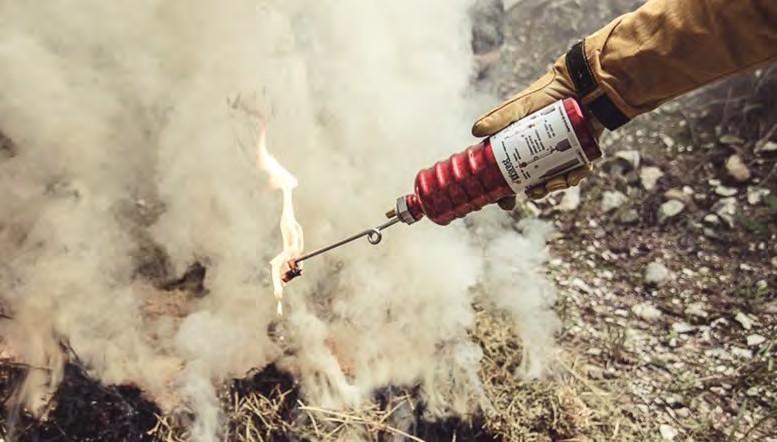 Torche égouttement en action foret