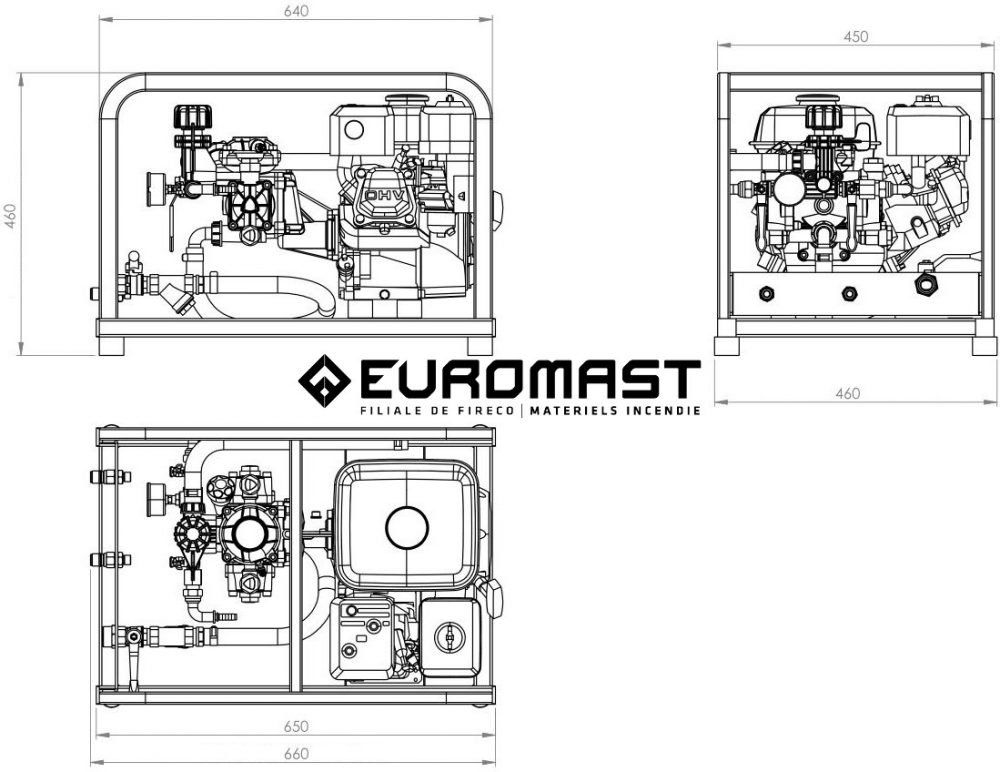 Plan pompe épreuve EFP-25-0.8B